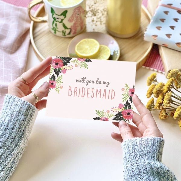 Will you be my Bridesmaid? Card - designed by Rodo Creative in Manchester