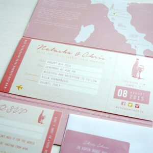 Italian wedding theme Stationery & Invitations designed by Rodo Creative