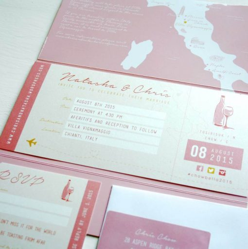 Italian wedding theme Stationery & Invitations designed by Rodo Creative
