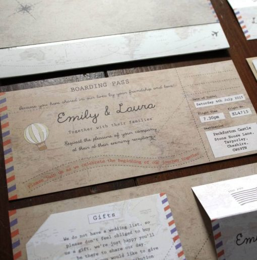 Phileas Fogg Vintage Map Boarding Pass - Designed by Rodo Creative in Manchester