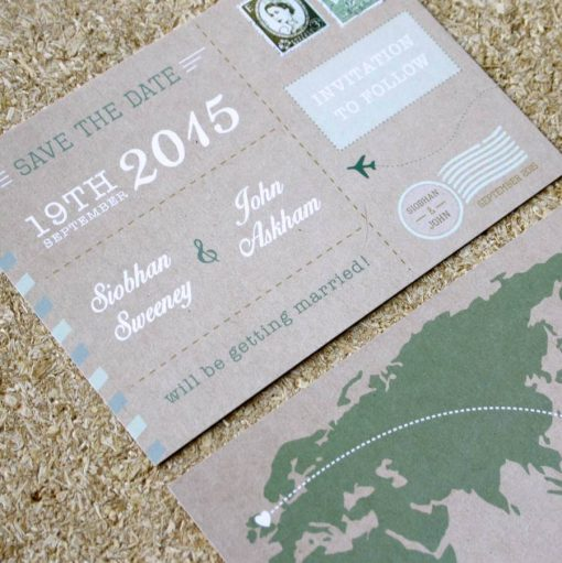 Vintage Postcard Save the Date - Designed by Rodo Creative in Manchester