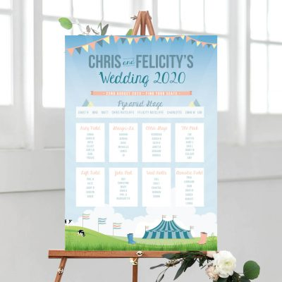 Festival Themed Table Plan - Designed by Rodo Creative in Manchester