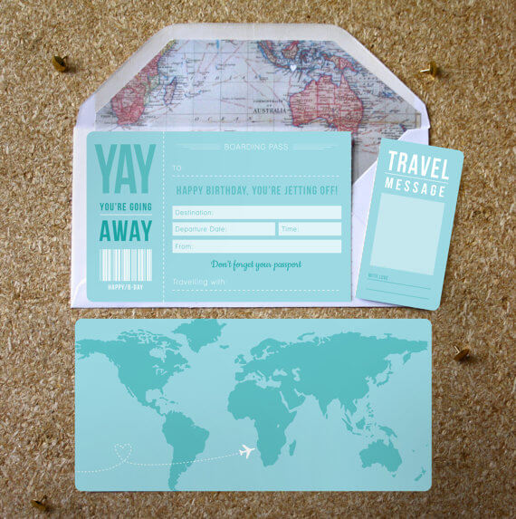 Blue Birthday Boarding Pass designed in Manchester by Rodo Creative
