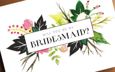 Bridesmaid and Maid of Honour Cards