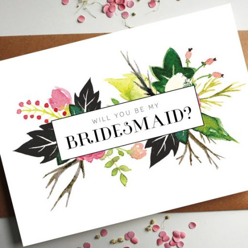 Will you be my bridesmaid card design by Rodo Creative