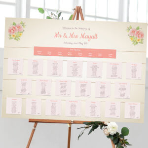 Rose Garden Vintage Table Plan - Designed by Rodo Creative in Manchester