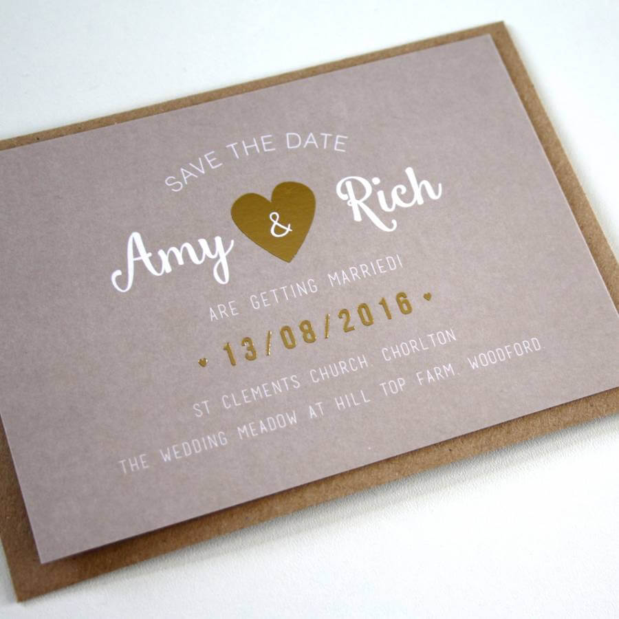 Rustic Love Heart Save The Date - Designed by Rodo Creative