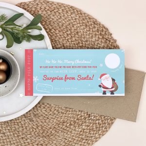 Santa's Surprise Scratch Off Ticket - Designed by Rodo Creative