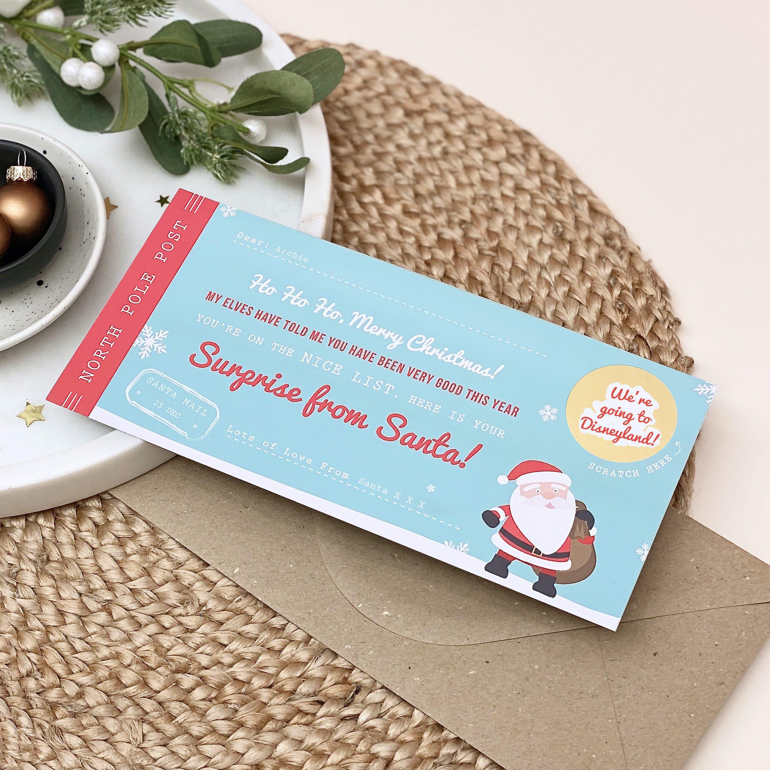 Santa's Surprise Scratch Off Ticket - Designed by Rodo Creative