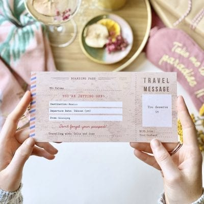 Vintage Travel Ticket Gift - Designed by Rodo Creative