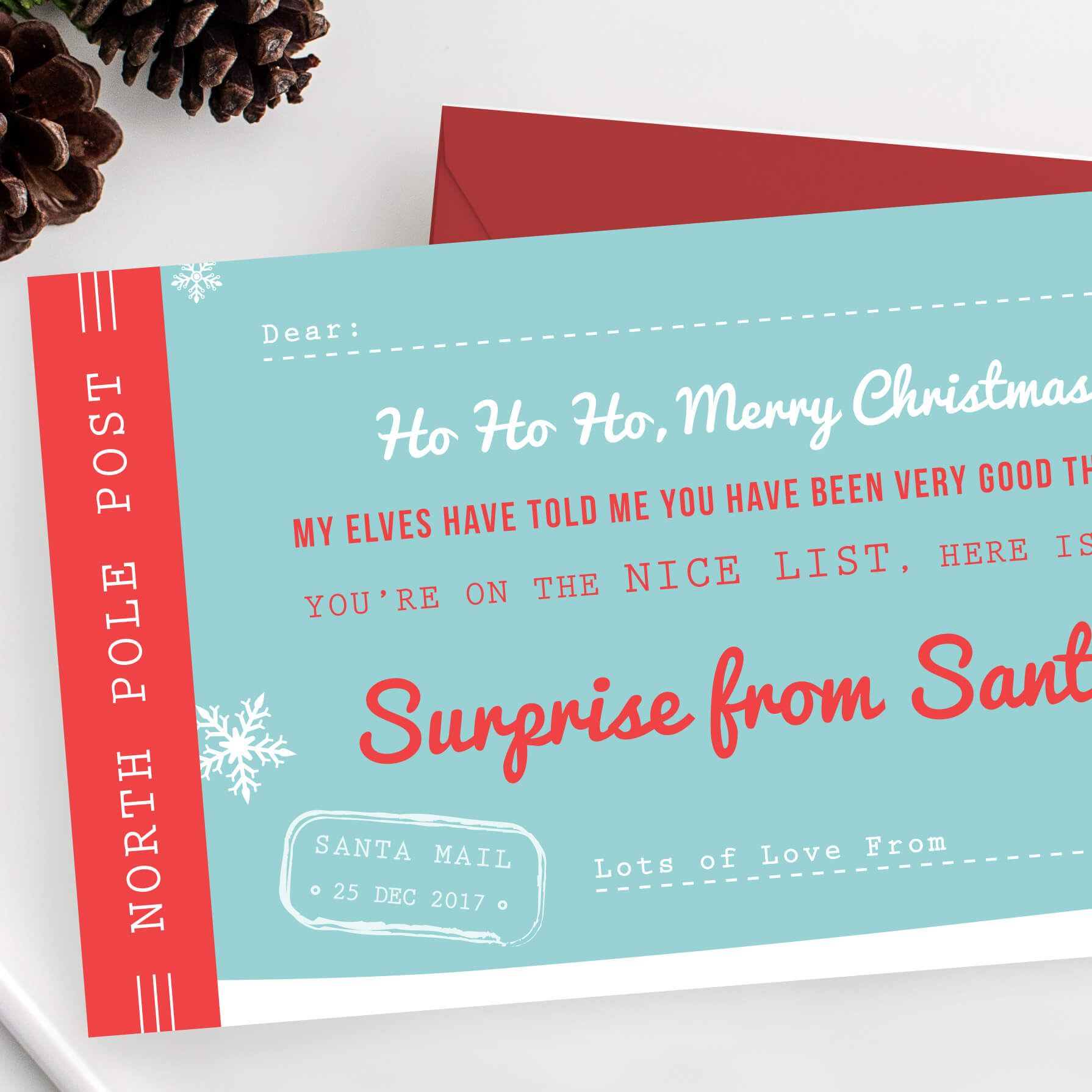 Santa S Surprise Scratch Off Ticket The Perfect Christmas