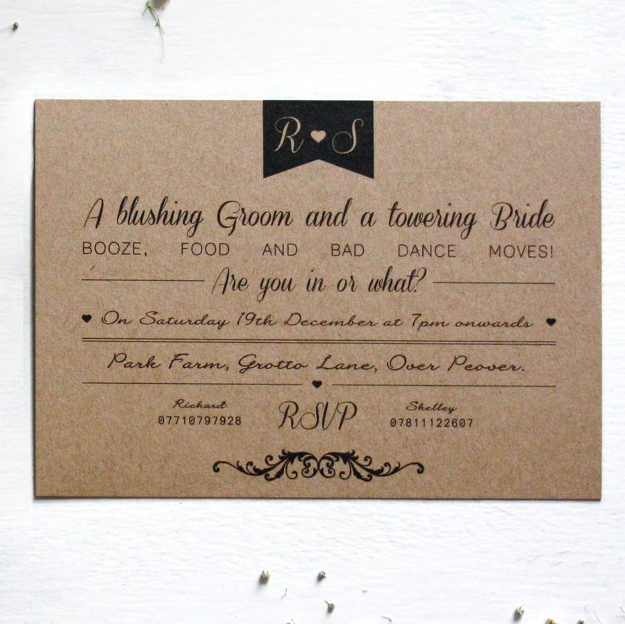 Elegant Type Vintage Wedding Invitation - Rodo Creative