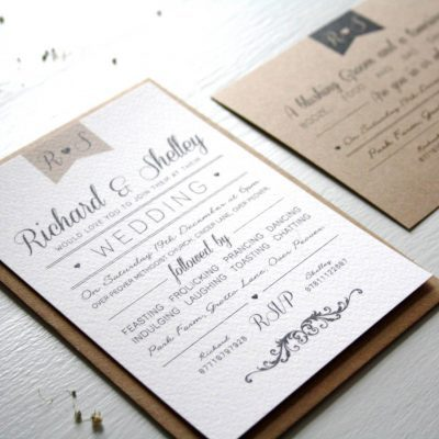 Elegant Type Vintage Wedding Invitation - designed by Rodo Creative in Manchester