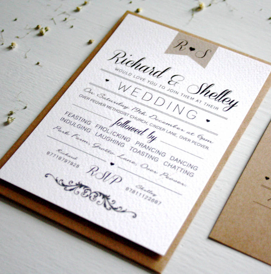 Elegant Type Vintage Wedding Invitation - Rodo Creative