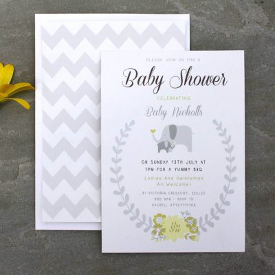 Elephant Baby Shower Invitation - Designed By Rodo Creative