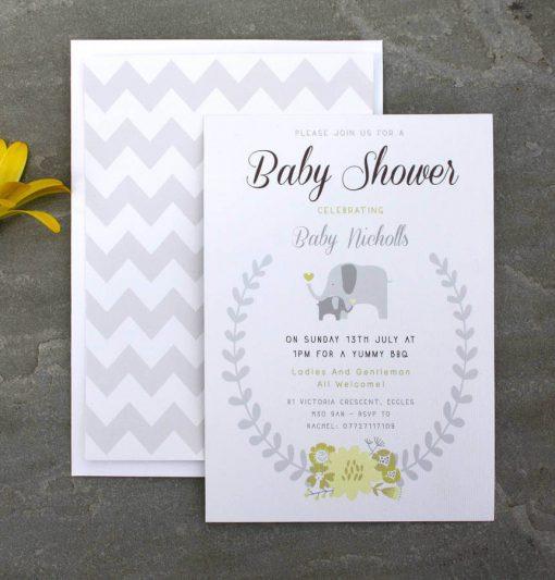 Elephant Baby Shower Invitation - Designed By Rodo Creative