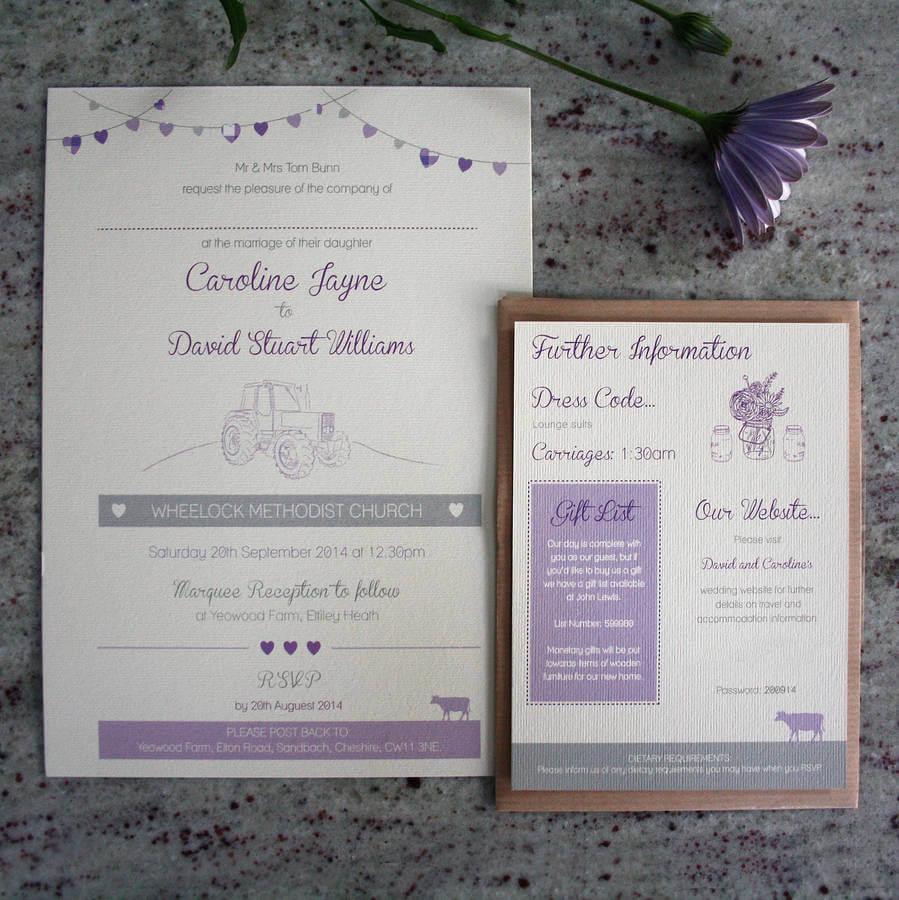 Farm Wedding Invitation Bundle designed by Rodo Creative in Manchester