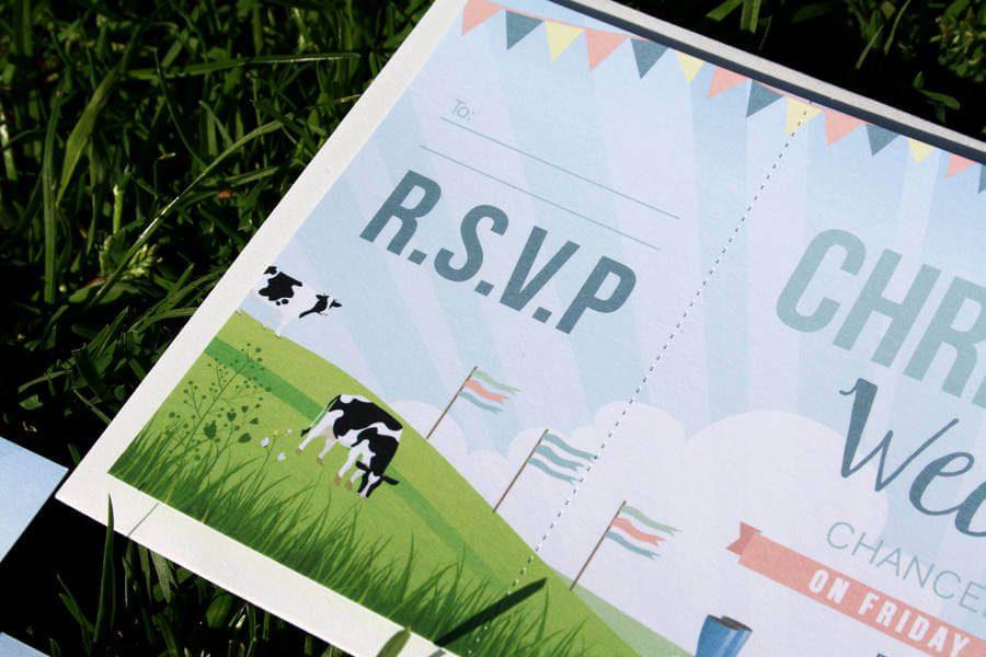 Wedding Invitations Manchester: Festival Themed Wedding Invitation Bundle Designed In