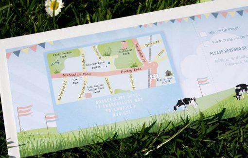 Festival Themed Wedding Invitation Bundle designed in Manchester by Rodo Creative