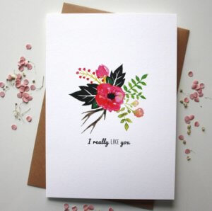 I Really Like You Valentine's Day Card - Designed By Rodo Creative
