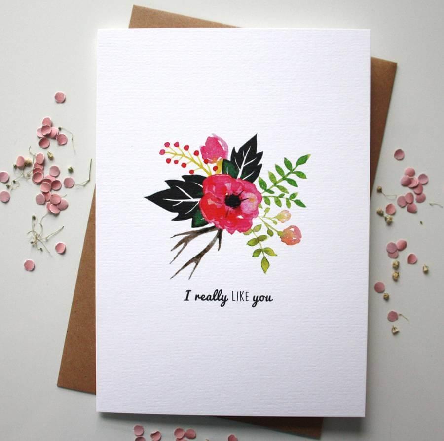 I Really Like You Valentine's Day Card - Designed By Rodo Creative