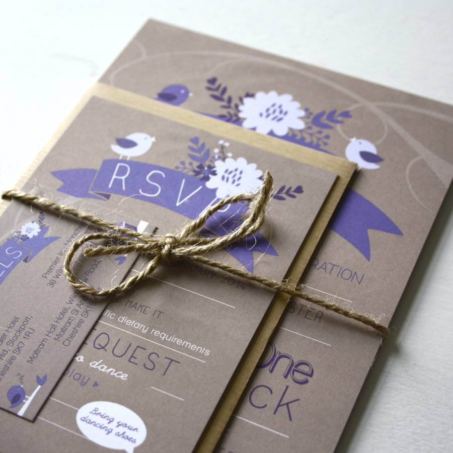 Love Bird Wedding Invitation Bundle - designed by Rodo Creative in Manchester