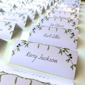 Olive Wedding Place Cards