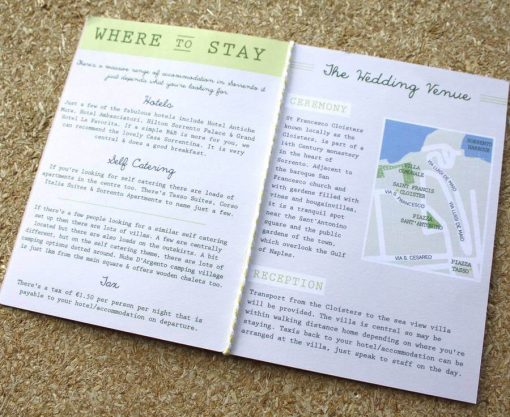 Passport Wedding Invitation Travel Booklet designed in Manchester by Rodo Creative