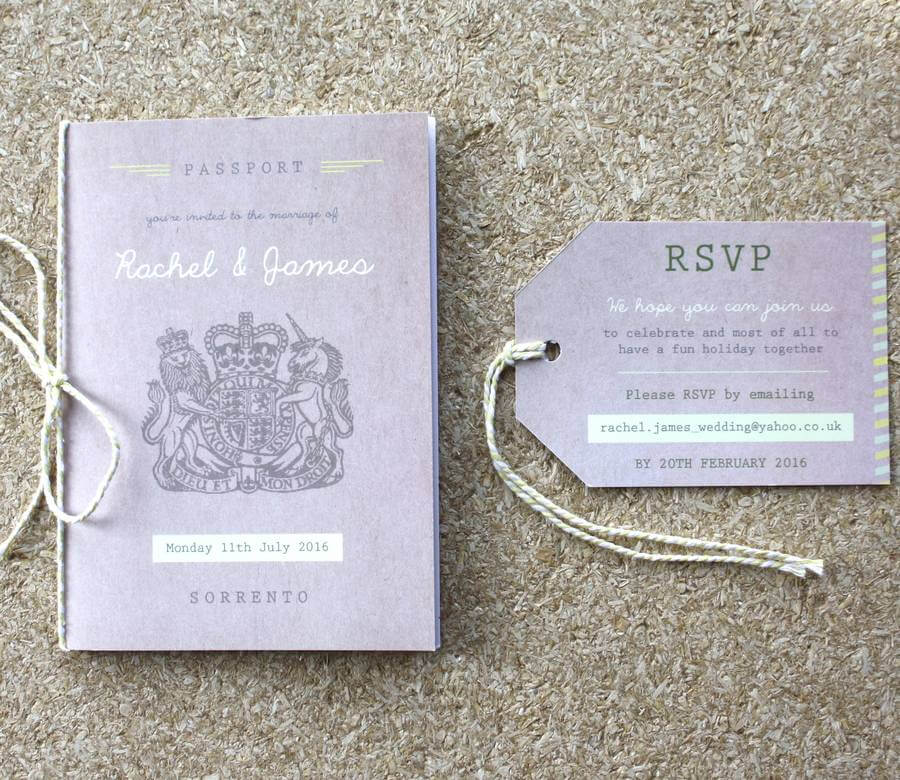 Passport Wedding Invitation Travel Booklet - Rodo Creative