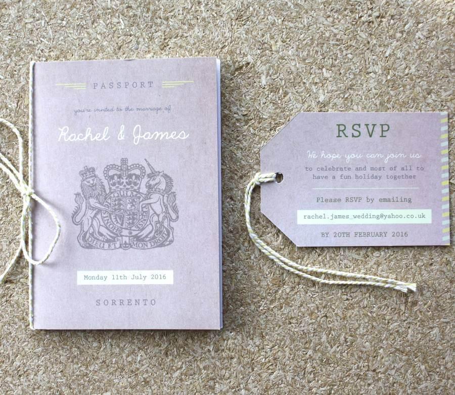 Passport Wedding Invitation Travel Booklet Rodo Creative