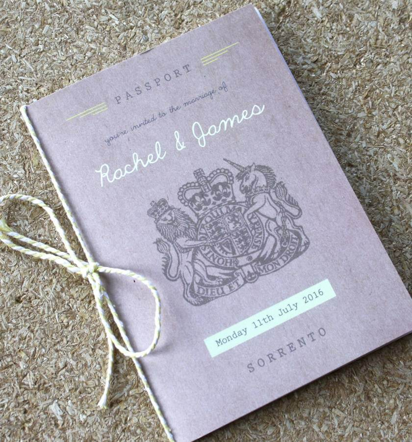 Passport Wedding Invitation Travel Booklet