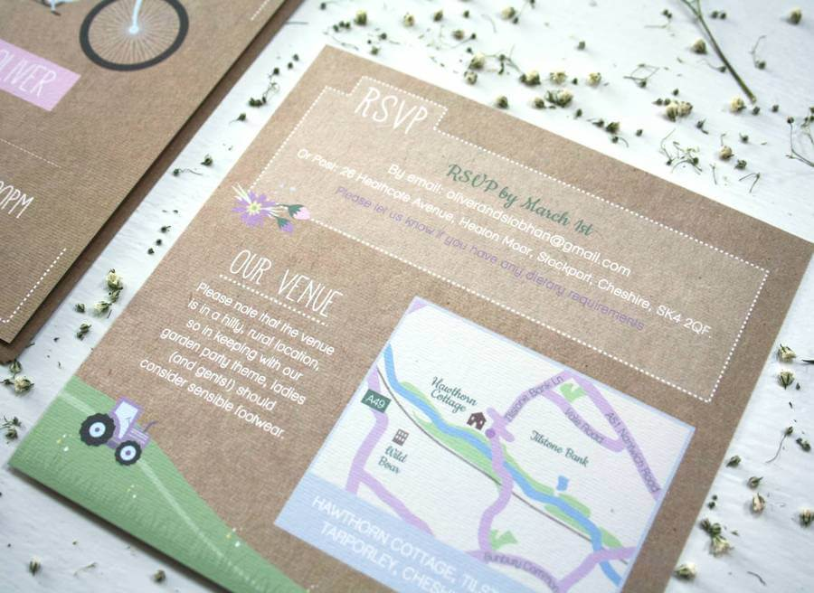 Tandem Bike Wedding Invitation Bundle - Rodo Creative
