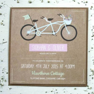 Tandem Bike Wedding Invitation Bundle designed by Rodo Creative in Manchester