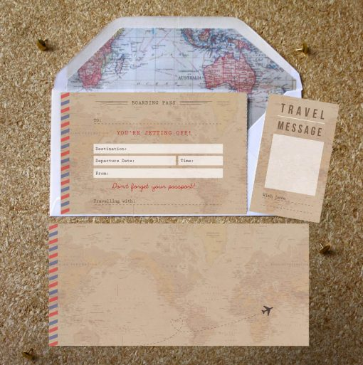 Vintage Travel Ticket Gift - designed by Rodo Creative in Manchester