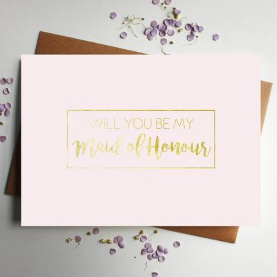 original_will-you-be-my-maid-of-honour-gold-foil-pink-card