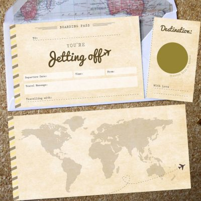 Scratch Off Boarding Pass - Designed by Rodo Creative