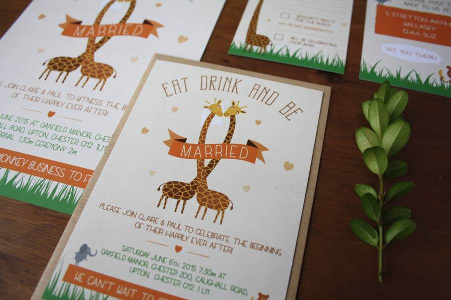 Zoo themed wedding invitation bundle rodo creative zoo themed wedding invitation bundle stopboris Gallery