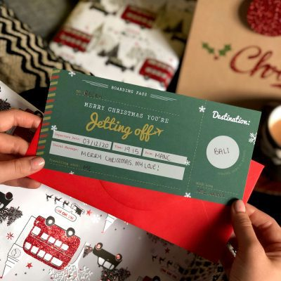 Christmas Scratch off Boarding Pass, you're jetting off designed by Rodo Creative Sale, Manchester