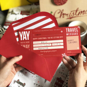 Christmas Boarding Pass gift designed by Rodo Creative in Manchester