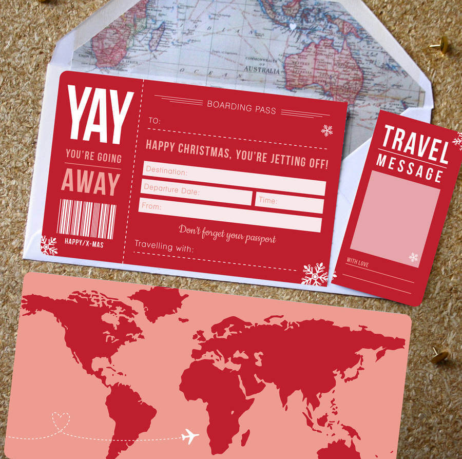 Christmas Places To Go Manchester: Christmas Boarding Pass Gift Designed By Rodo Creative In