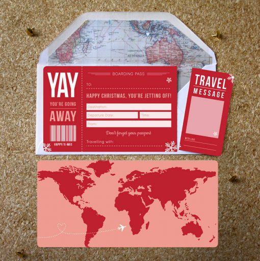 Christmas Boarding pass ticket gift By Rodo Creative Manchester