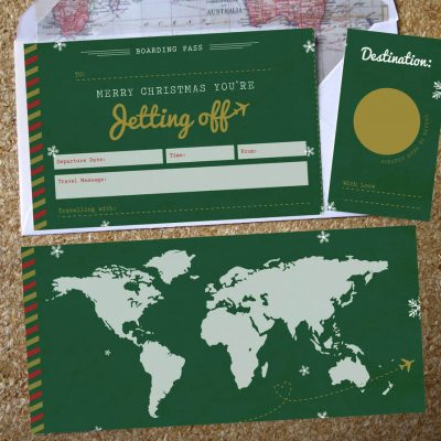 Christmas scratch off boarding pass by Rodo Creative