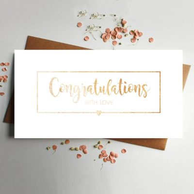 Congratulations Money wallet Rose Gold Wedding wallet by Rodo Creative