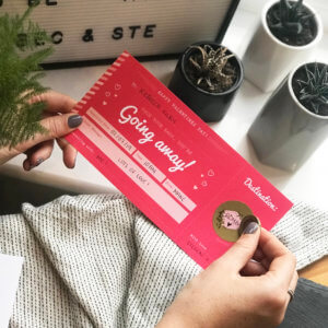 Valentines Jetting Off Scratch Card Boarding Pass - By Rodo Creative
