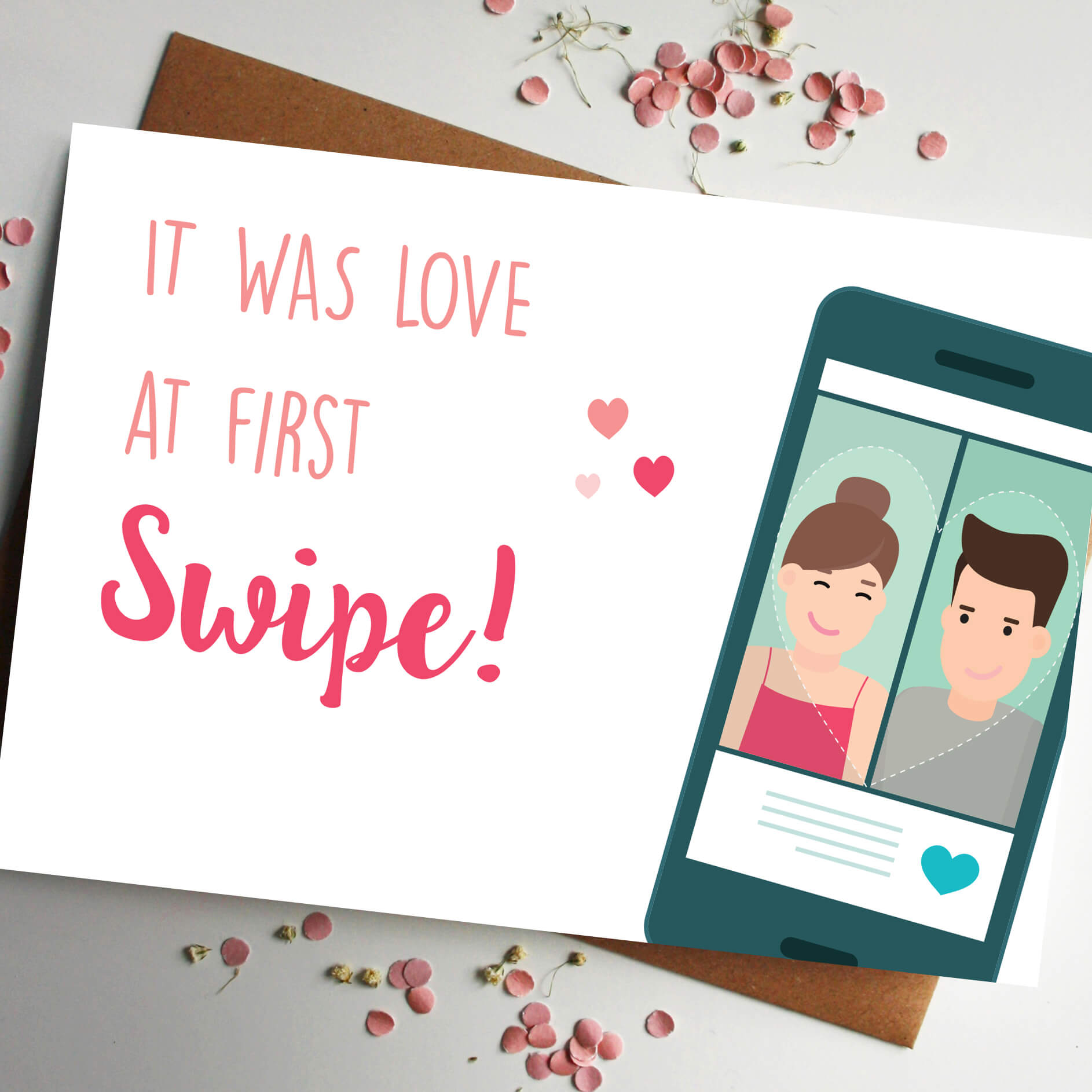 Rodo Creative's Love at first swipe Valentines day card