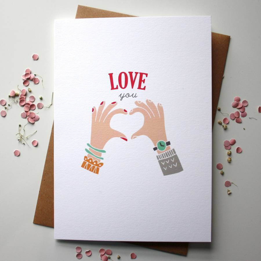 Love You Card - Designed By Rodo Creative in Manchester