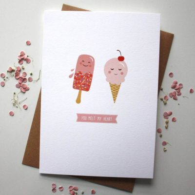 You Melt My Heart Card Love Card - Designed By Rodo Creative