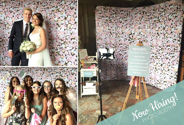 Flower Wall photo booth set up for hire