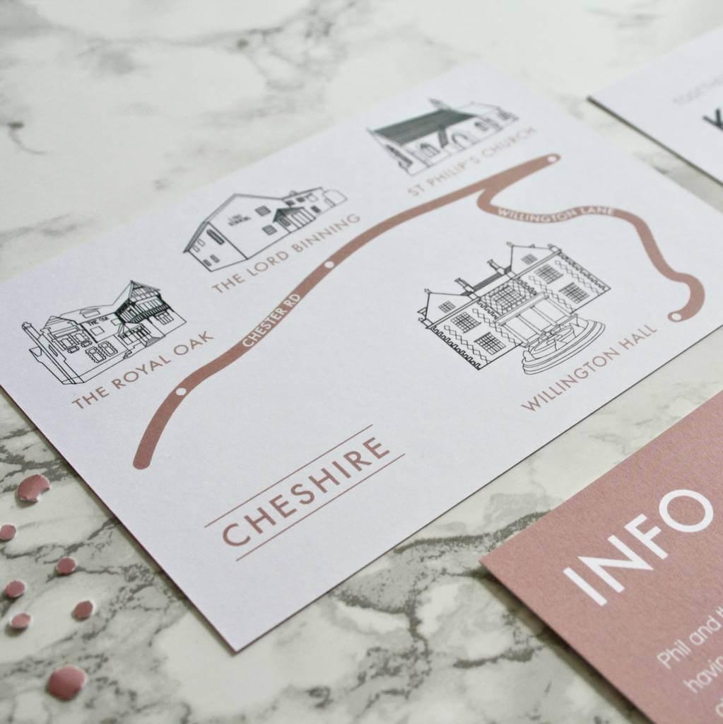 Geometric Copper Foil Wedding Invitations - designed by Rodo Creative
