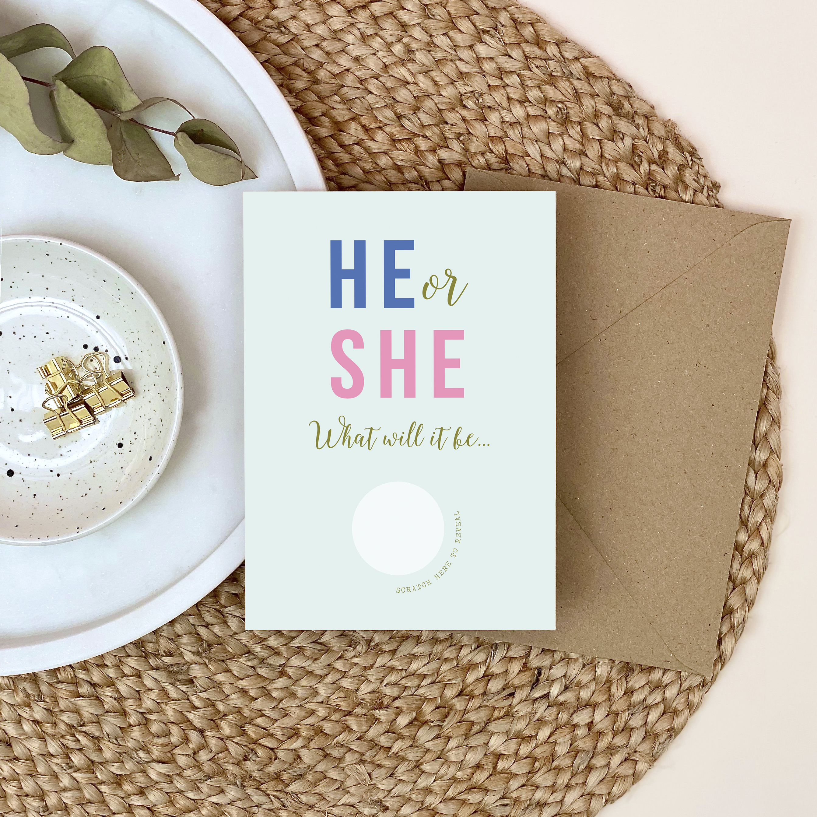 Scratch Reveal Baby Announcement Card - Designed by Rodo Creative